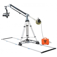 Комплект крана Proaim 7ft Wave Jib Crane, 100mm Tripod Stand, Junior-D Pan Tilt head, Swift Dolly, 12ft Straight Track (Elite Package)