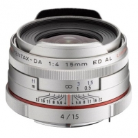 Объектив Pentax HD DA 15mm f/4 AL Limited Silver