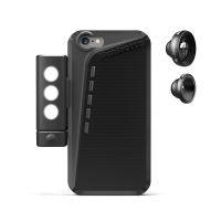 Manfrotto Чехол для iPhone 6, объективы fisheye, telephoto 3x, LED свет