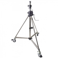 Стойка Kupo Heavy Duty Wind-up Stell Stand w/Casters Lighting Stand, стойка на колесах с торозами 484