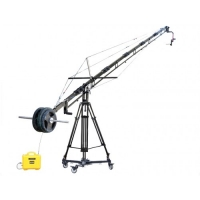 Кран Proaim 21ft Alphabet Jib Crane, 100mm Tripod Stand, Sr. Pan Tilt Head, Portable Dolly
